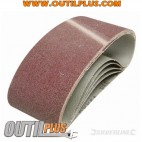 5 bandes abrasives 75 x 457 mm