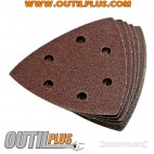 10 feuilles abrasives triangulaires auto-agrippantes 90 mm